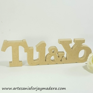 Chollo Oferta!! Letras Decorativas Tu y Yo