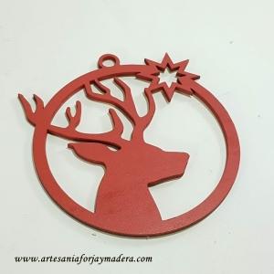 Adorno Navidad Bola con Reno Grande