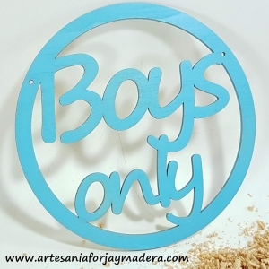 Placa Boys only