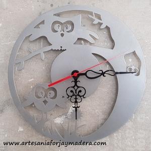 Reloj Pareja de Buhos