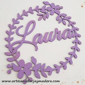 Corona Flores Con Nombre