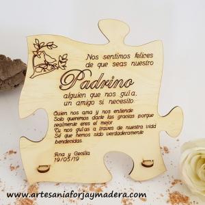 Tarjeta Puzzle Padrino