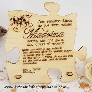 Tarjeta Puzzle Madrina