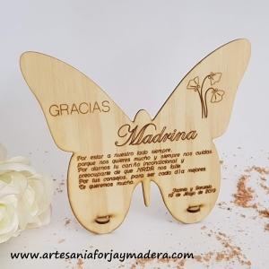 Tarjeta Mariposa Madrina
