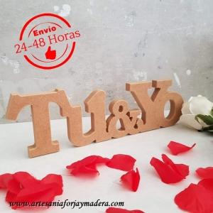 Express-- Letras Decorativas Tu y Yo
