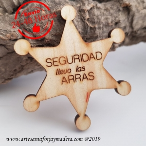Broche Seguridad Sheriff Arras