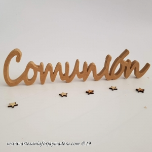Letras Decorativas Comunion