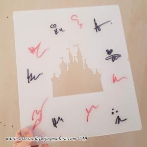 Tabla autografos Disney