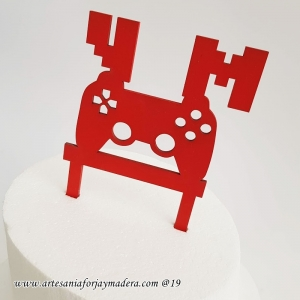cake topper Mando Gamer