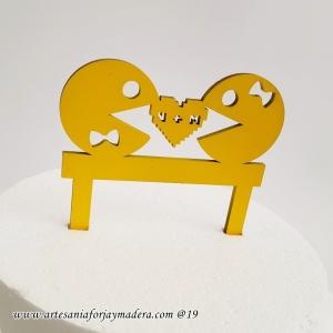 cake topper Pacman Gamer
