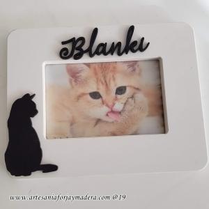 Portafotos Personalizado Gato Horizontal