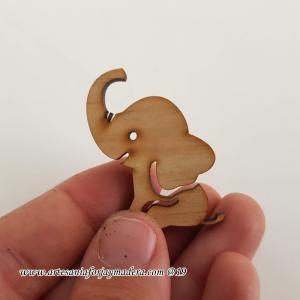 Mini Silueta 4 cm Elefante x10