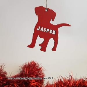 Adorno Navidad silueta Perro