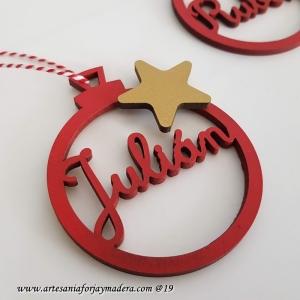 Bola Navidad Sencilla con adorno estrella