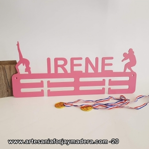 Medallero Doble 2 siluetas Rtimica + Voleibol femenino