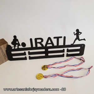 Medallero Doble 2 siluetas Halterofilia + Runner femenino