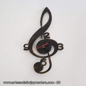 Reloj Clave de Sol Music