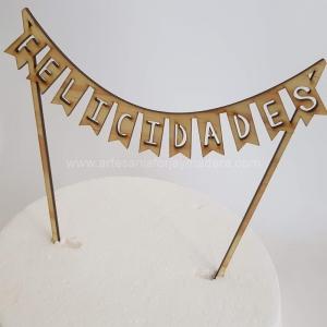 Cake Topper Felicidades