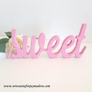 Letras Decorativas Sweet (Sobremesa)