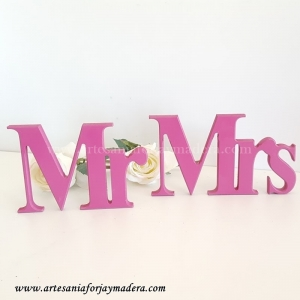 Letras Decorativas Mister and Miss (Sobremesa)