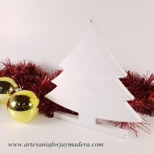 Silueta de Pie Arbol de Navidad
