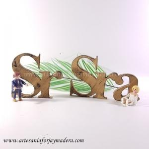 Letras Decorativas Señor y Señora (Sobremesa)