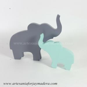 Silueta de Pie Elefante