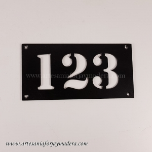 Numero Puerta Rectangular