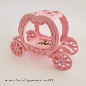 Carroza Cenicienta porta anillos o arras