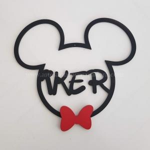 Silueta Mickey con nombre para Colgar