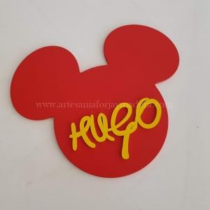 Cartel Puerta Mickey