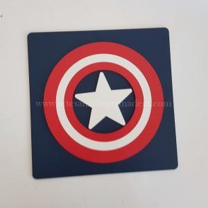 Cuadro Tridimensional Capitan America Superheroes
