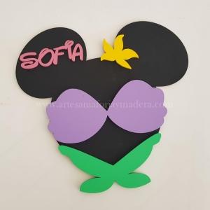 Cartel Puerta Mickey La sirenita
