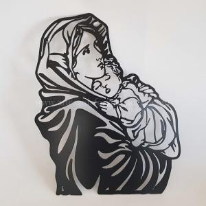 Silueta Virgen con Niño