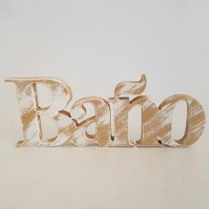 Letras Decorativas Baño (Sobremesa)