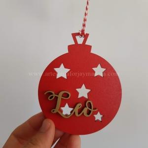 Bola Navidad 3d Estrellas Caladas