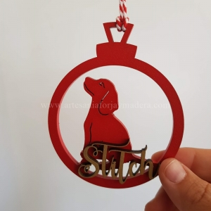 Bola Navidad 3d beagle
