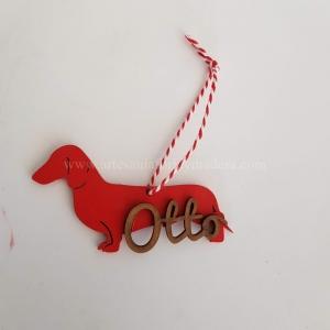 Bola Navidad Perro Salchicha