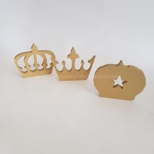 Silueta de Pie 3 Coronas de Reyes Magos