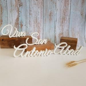 Letras viva San Antonio Abad