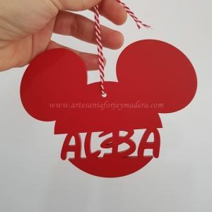 Adorno Navidad Bola Mickey con nombre