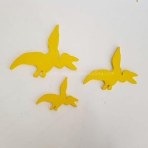 st Juego de 3 dinosaurios amarillos