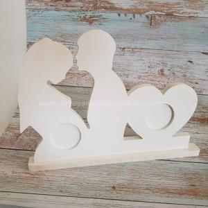 Portafotos Doble pareja Ecografia Embarazo