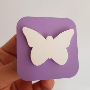 Tirador 3d cuadrado mariposa