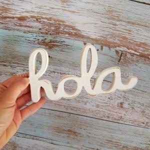 Letras Decorativas Hola (Sobremesa)