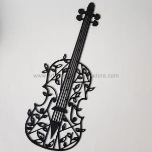 Silueta Pared Madera Viola Violin