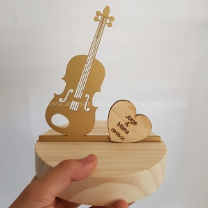 Porta Alianzas Base Pino Violin