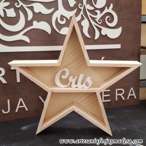 Estante Estrella Madera