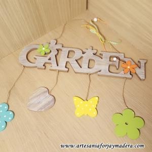 """Letrero """"Garden"""""""