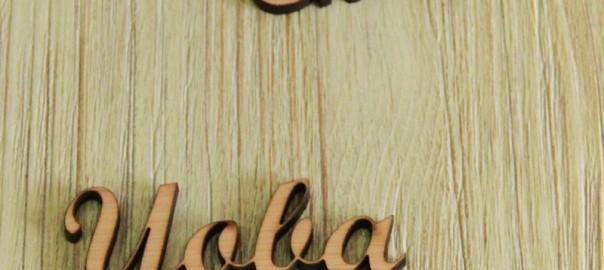 minis nombres de madera
